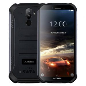 DOOGEE S40 lite 5.5 inch HD IP68 Waterdrop Android 9.0 4650mAh Face Unlock 2GB RAM 16GB ROM MT6580 Quad Core 3G Smartphone - Black