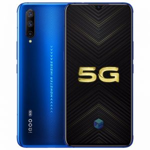 Vivo iQOO Pro 5G Smartphone CN Version 6.41 inch FHD+ Super AMOLED NFC 4500mAh 48MP Triple Rear Cameras 12GB RAM 256GB ROM Snapdragon 855 Plus Octa Core - Blue