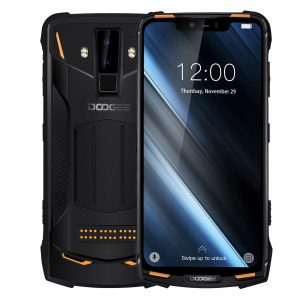 DOOGEE S90C Global Bands IP68 Waterproof 6.18 inch FHD+ NFC 5050mAh 16MP+8MP AI Dual Rear Cameras 4GB 64GB Helio P70 Octa Core 4G Smartphone - Orange