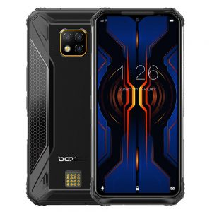DOOGEE S95 Pro Global Bands IP68 Waterproof 6.3 inch FHD+ NFC Android 9.0 5150mAh 48MP AI Triple Rear Cameras 8GB RAM 128GB ROM Helio P90 Octa Core 4G Smartphone - Black