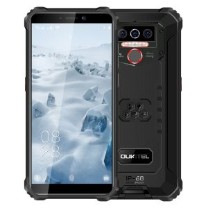 OUKITEL WP5 5.5 inch HD+ IP68 & IP69 Waterproof 8000mAh Battery Android 9.0 13MP Triple Rear Camera 4GB RAM 32GB ROM MT6761 Quad Core 4G Smartphone - Black