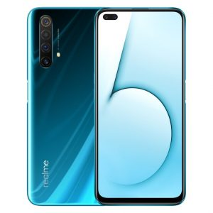 Realme X50 5G CN Version 6.57 inch FHD+ 120Hz Refresh Rate NFC Android 10.0 4200mAh 30W VOOC 4.0 64MP Quad Rear Cameras 6GB 64GB Snapdragon 765G Octa Core Smartphone - Glacier
