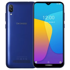 DOOGEE X90 6.1 inch HD Waterdrop Display Face Unlocking Android 8.1 3400mAh 1GB RAM 16GB ROM MT6580A Quad Core 3G Smartphone - Blue