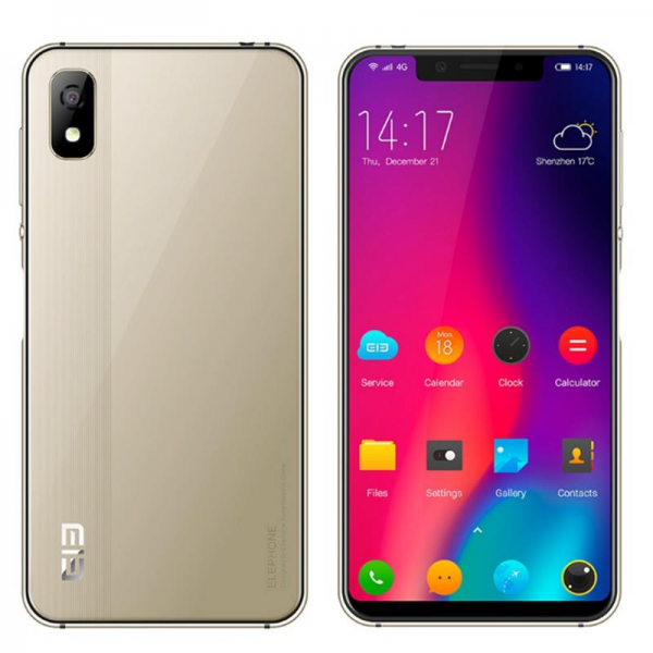 Elephone A4 5.85 Inch 19:9 Side Fingerprint Android 8.1 3GB 16GB MT6739 Quad Core 4G Smartphone - Gold