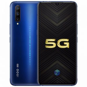 Vivo iQOO Pro 5G Smartphone CN Version 6.41 inch FHD+ Super AMOLED NFC 4500mAh 48MP Triple Rear Cameras 12GB RAM 256GB ROM Snapdragon 855 Plus Octa Core - Light Blue