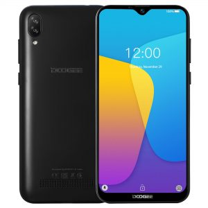 DOOGEE X90 6.1 inch HD Waterdrop Display Face Unlocking Android 8.1 3400mAh 1GB RAM 16GB ROM MT6580A Quad Core 3G Smartphone - Black