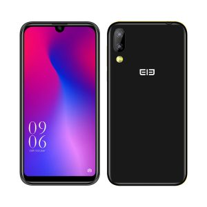 Elephone A6 Mini 5.71 Inch HD+ Android 9.0 3180mAh Side Fingerprint 4GB 32GB MT6761 Quad Core 4G Smartphone - Black