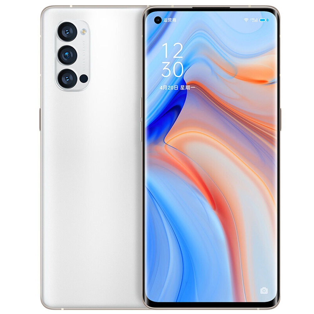OPPO Reno4 Pro 5G CN Version 6.5 inch FHD+ 90Hz Refresh Rate NFC Android 10 SuperVOOC 2.0 12GB 128GB Snapdragon 720G Smartphone - White