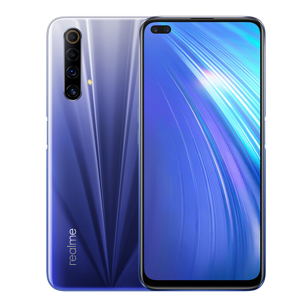 Realme X50m 5G CN Version 6.57 inch FHD+ 120Hz Refresh Rate NFC Android 10 48MP Quad Rear Camera 6GB 128GB Snapdragon 765G Smartphone - Blue