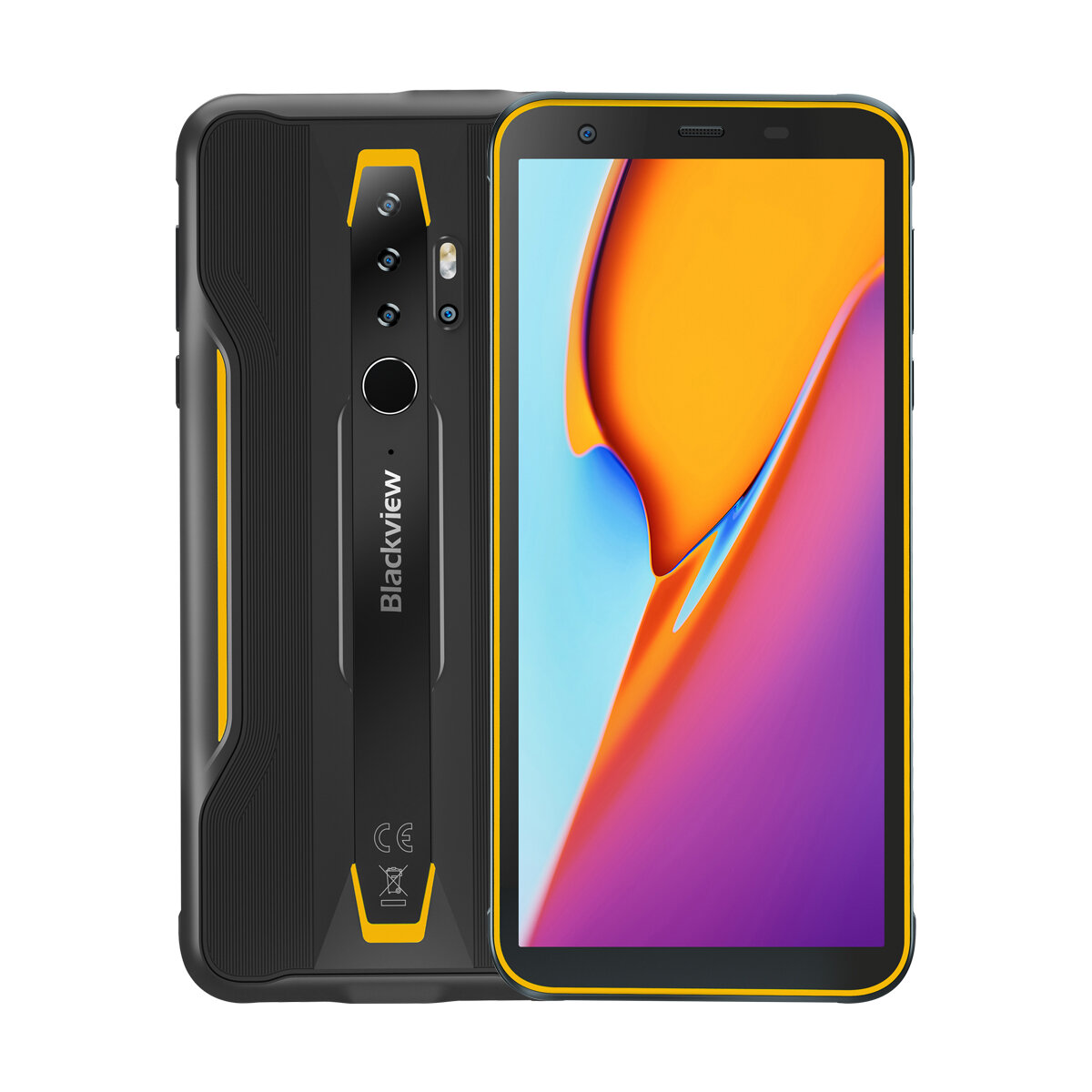 Blackview BV6300 Pro Global Bands IP68/IP69K Waterproof 5.7 inch NFC 4380mAh Android 10 16MP Quad Camera 6GB 128GB Helio P70 Octa Core 4G Smartphone - Yellow
