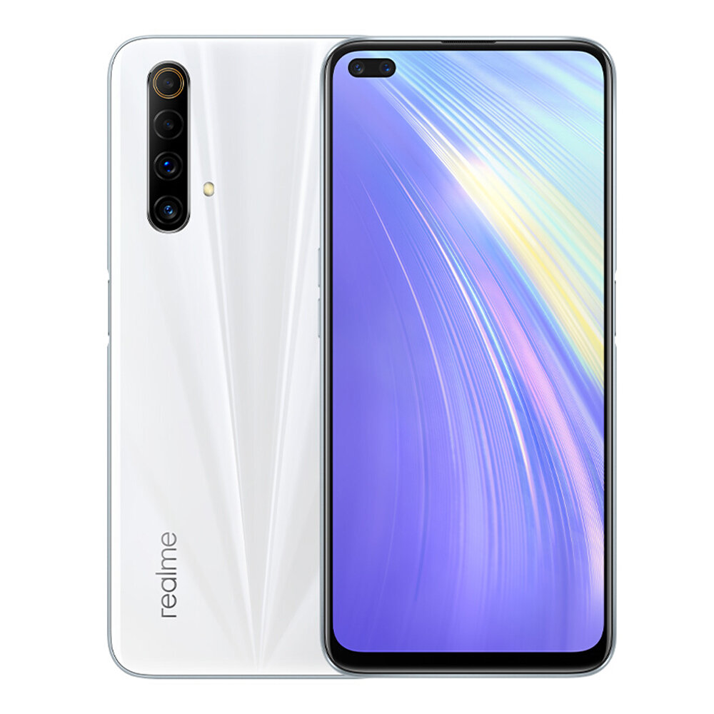 Realme X50m 5G CN Version 6.57 inch FHD+ 120Hz Refresh Rate NFC Android 10 48MP Quad Rear Camera 8GB 128GB Snapdragon 765G Smartphone - White