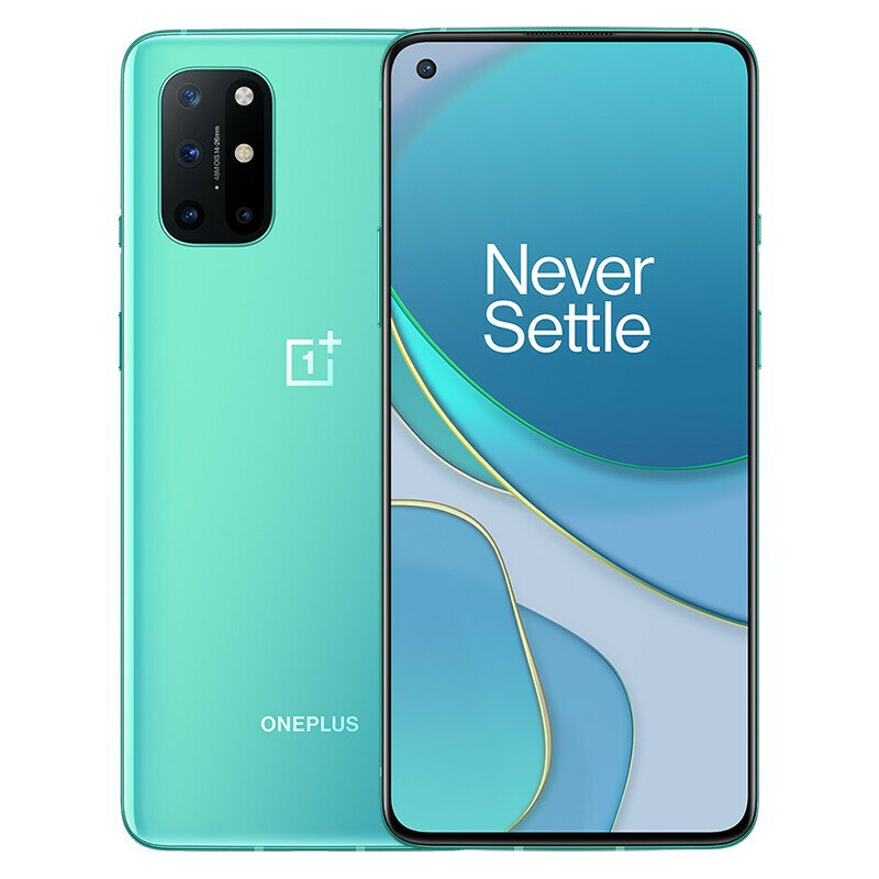 OnePlus 8T 5G NFC Android 11 12GB 256GB Snapdragon 865 6.55 inch FHD+ HDR10+ 120Hz Fluid AMOLED Screen 48MP Quad Camera 65W Warp Charge Smartphone - Green