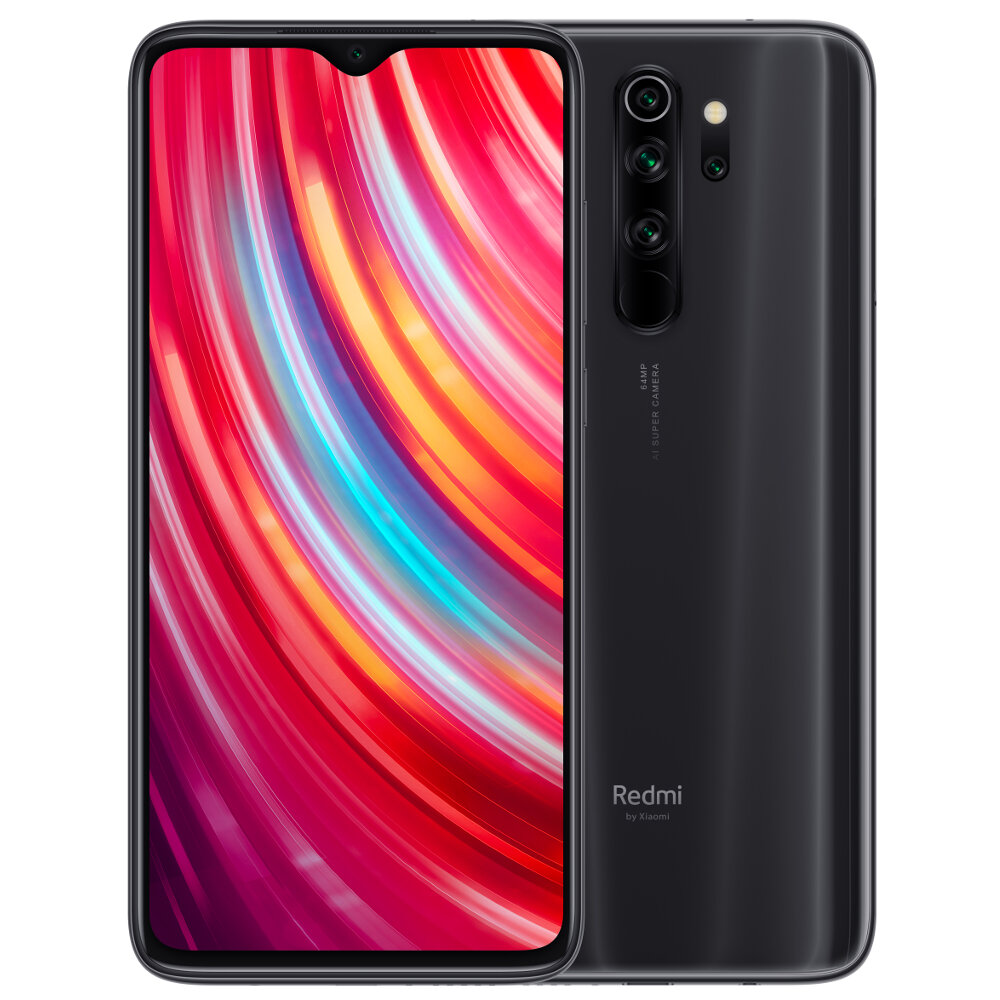 Xiaomi Redmi Note 8 Pro 6.53 inch 64MP Quad Rear Camera 6GB 128GB NFC 4500mAh Helio G90T Octa Core 4G Smartphone - Mineral Grey
