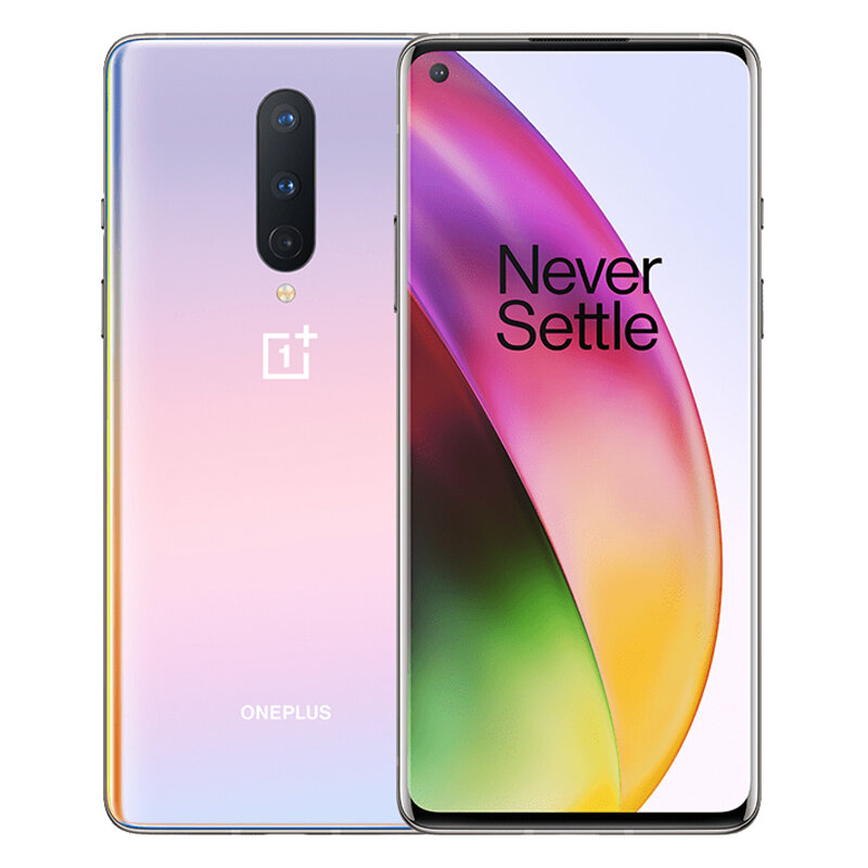 OnePlus 8 5G 6.55 inch FHD+ 90Hz Refresh Rate NFC Android 10 4300mAh 48MP Triple Rear Camera 8GB 128GB Snapdragon 865 Smartphone - Interstellar Glow