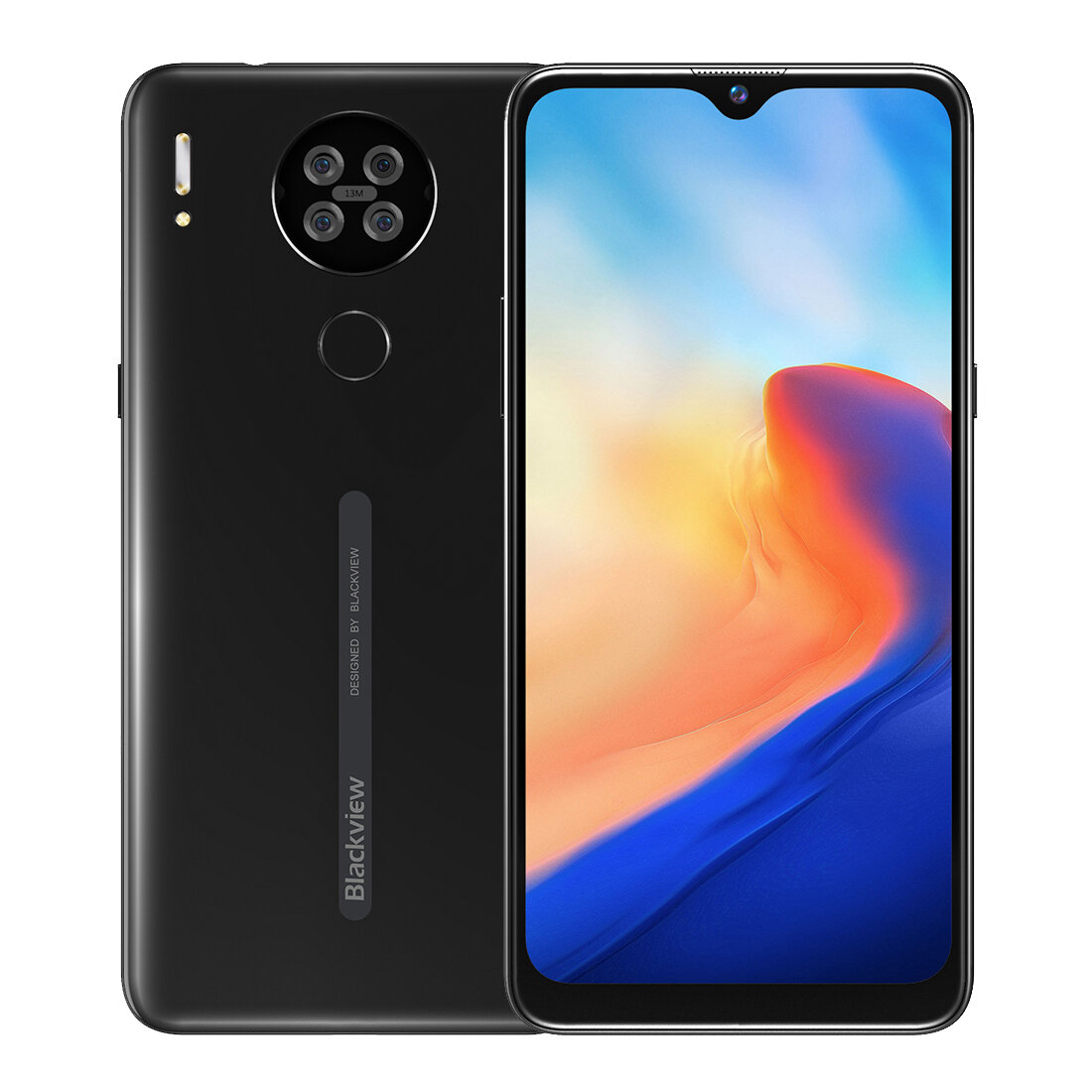 Blackview A80 6.217 inch HD+ Waterdrop Display 3800mAh Android 10 Go 13MP Quad Rear Camera 2GB 16GB MT6737V/W Quad Core 4G Smartphone - Black