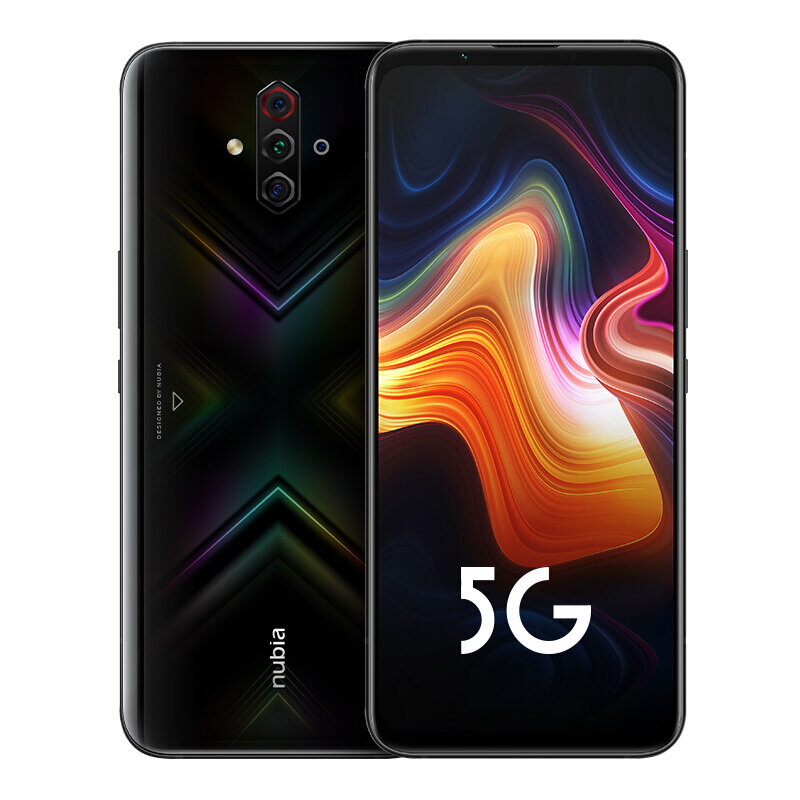 ZTE Nubia Play 5G CN Version 6.65 inch FHD+ 144Hz Ultra-high Screen Refresh Rate NFC 5100mAh 48MP Quad Rear Camera 8GB 256GB Snapdragon 765G Octa Core Smartphone - Black