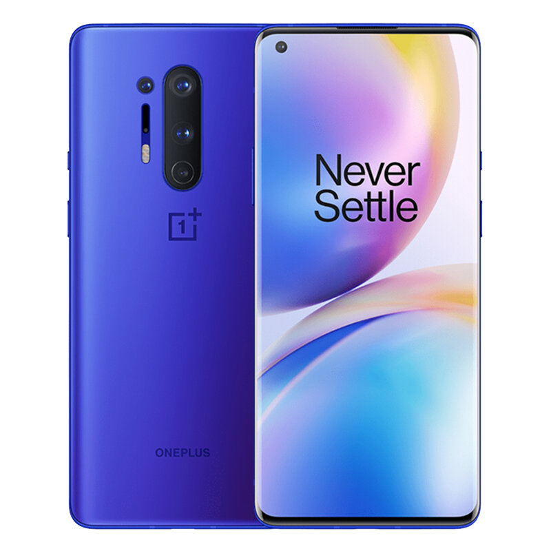 OnePlus 8 Pro 5G 6.78 inch QHD+ 120Hz Refresh Rate IP68 NFC Android 10 4510mAh 48MP Quad Rear Camera 12GB 256GB Snapdragon 865 Smartphone - Blue