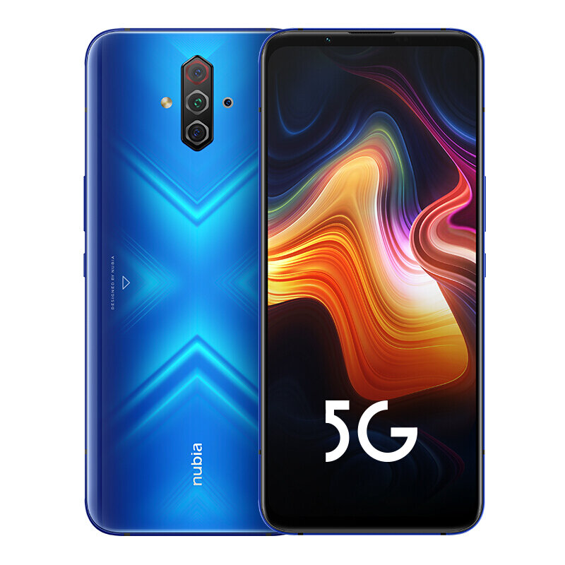 ZTE Nubia Play 5G CN Version 6.65 inch FHD+ 144Hz Ultra-high Screen Refresh Rate NFC 5100mAh 48MP Quad Rear Camera 8GB 128GB Snapdragon 765G Octa Core Smartphone - Blue