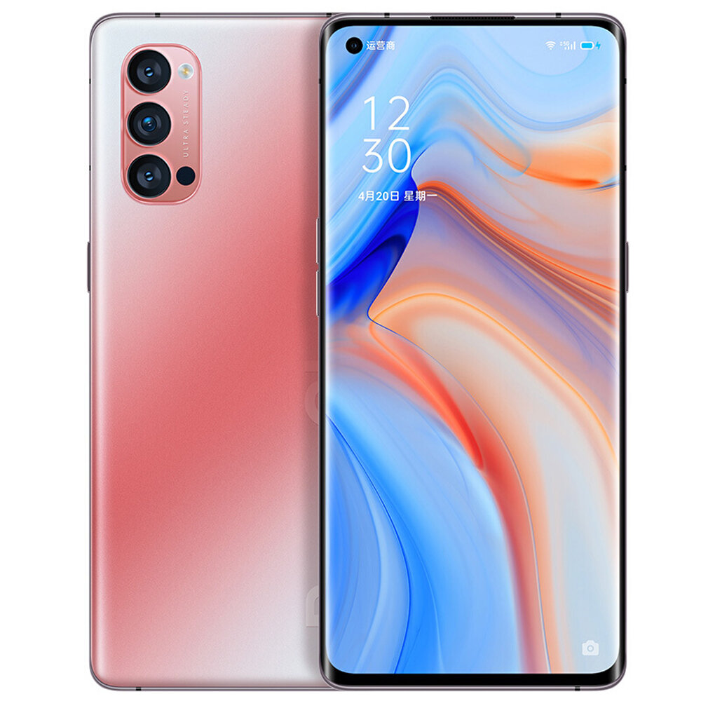 OPPO Reno4 Pro 5G CN Version 6.5 inch FHD+ 90Hz Refresh Rate NFC Android 10 SuperVOOC 2.0 8GB 128GB Snapdragon 720G Smartphone - Red