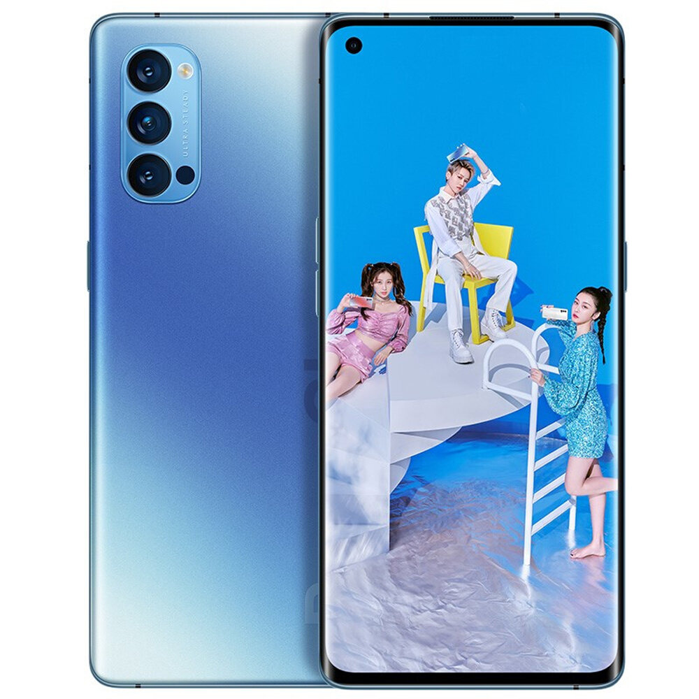 OPPO Reno4 Pro 5G CN Version 6.5 inch FHD+ 90Hz Refresh Rate NFC Android 10 SuperVOOC 2.0 8GB 128GB Snapdragon 720G Smartphone - Blue