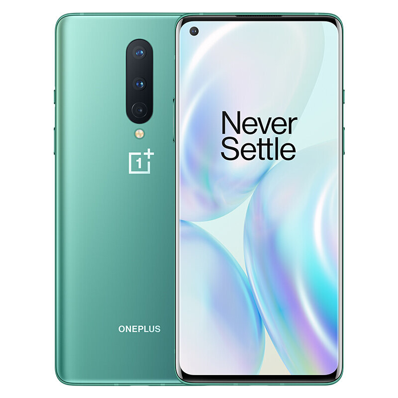 OnePlus 8 5G 6.55 inch FHD+ 90Hz Refresh Rate NFC Android 10 4300mAh 48MP Triple Rear Camera 12GB 256GB Snapdragon 865 Smartphone - Glacial Green