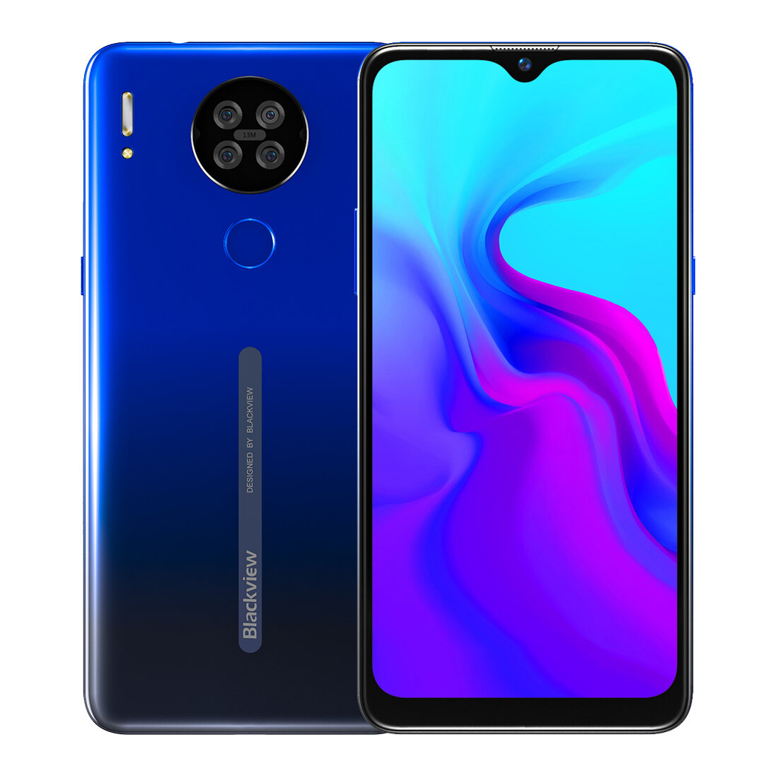 Blackview A80 6.217 inch HD+ Waterdrop Display 3800mAh Android 10 Go 13MP Quad Rear Camera 2GB 16GB MT6737V/W Quad Core 4G Smartphone - Blue