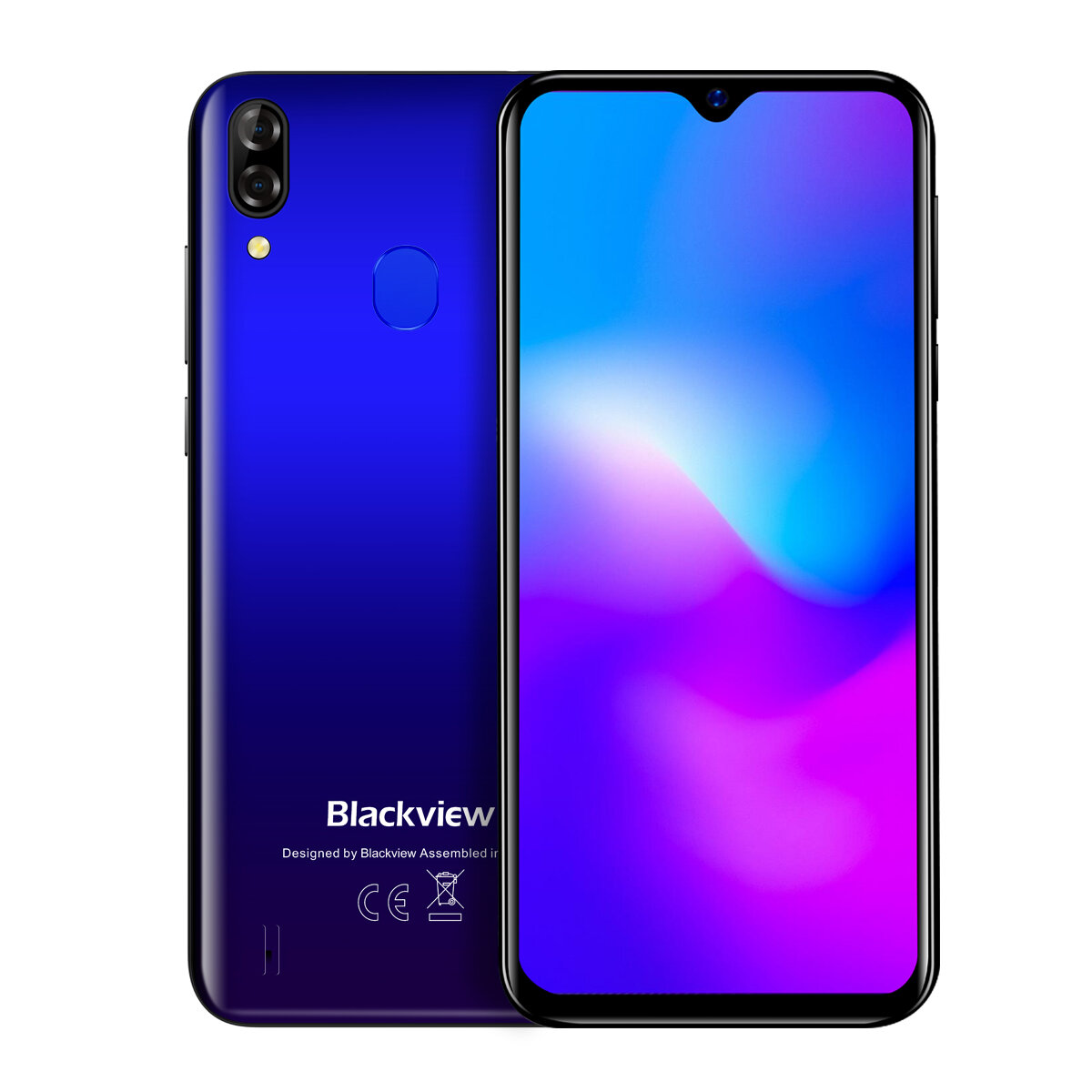 Blackview A60 Plus 6.088 inch HD+ Android 10.0 4080mAh 8MP Dual Rear Camera 4GB 64GB MT6761V Quad Core 4G Smartphone - Blue