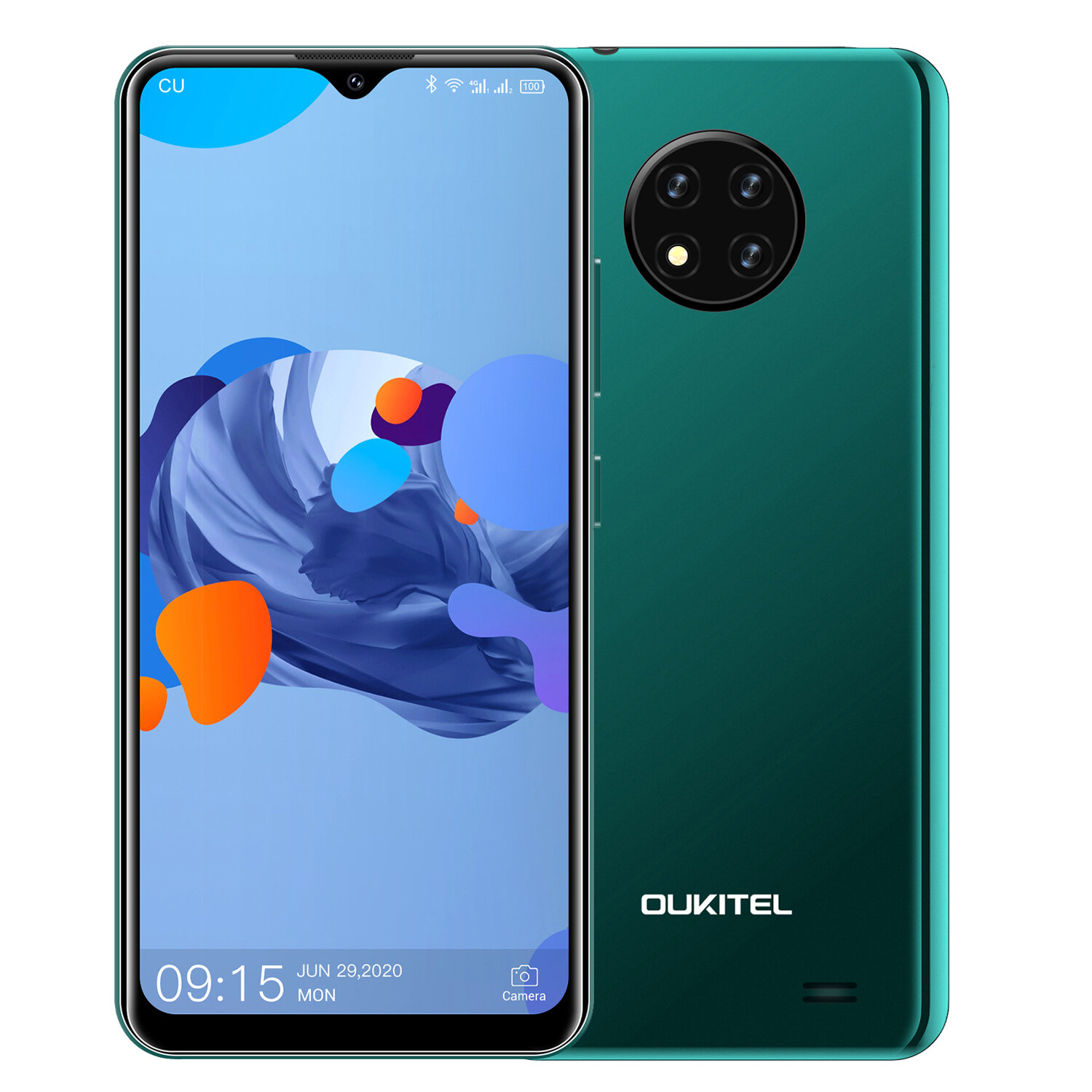 OUKITEL C19 6.49 inch HD+ Android 10 GO 4000mAh 13MP Triple Rear Camera 2GB 16GB MT6737 4G Smartphone - Green