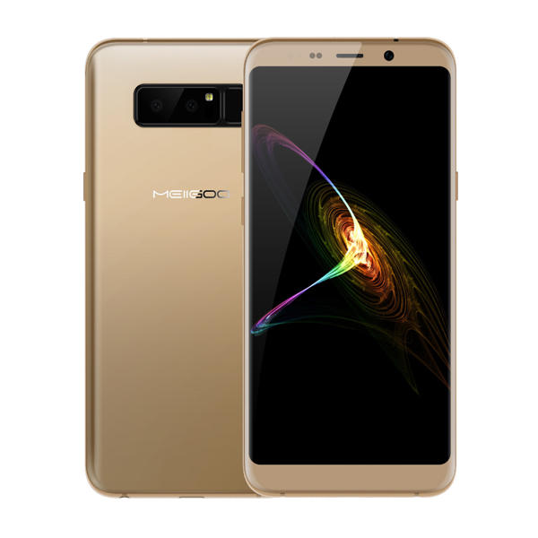 Meiigoo Note 8 5.99 Inch 3.0D Curved Glass Face ID 4GB RAM 64GB ROM MT6750T 1.5GHz 4G Smartphone - Gold