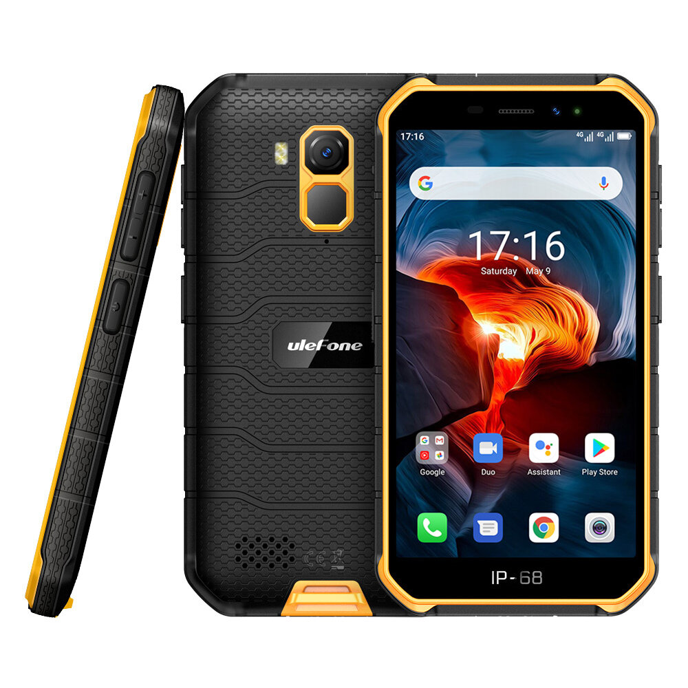 Ulefone Armor X7 Pro 5.0 inch NFC IP68 IP69K Waterproof Android 10 4GB RAM 32GB ROM MT6761 Quad Core 4G Smartphone - Orange