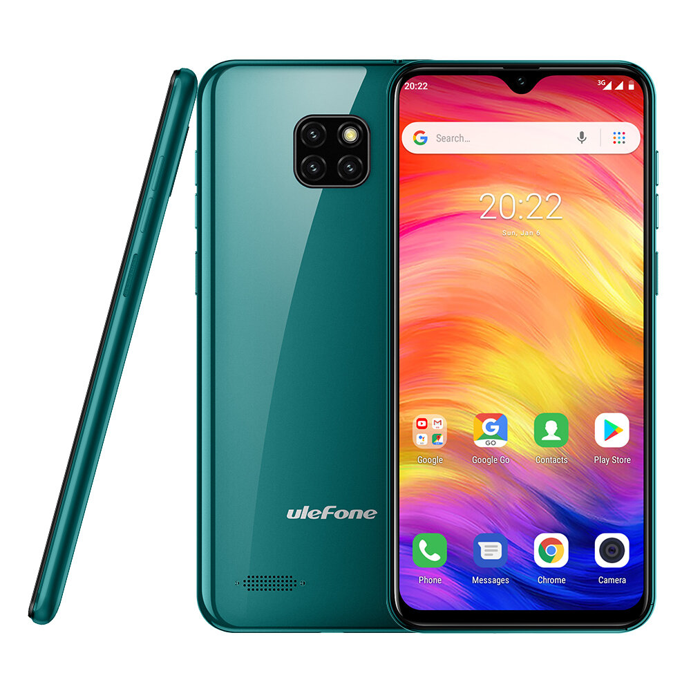 Ulefone Note 7 6.1 inch Triple Rear Camera 3500mAh 1GB RAM 16GB ROM MT6580A Quad core 3G Smartphone - Green