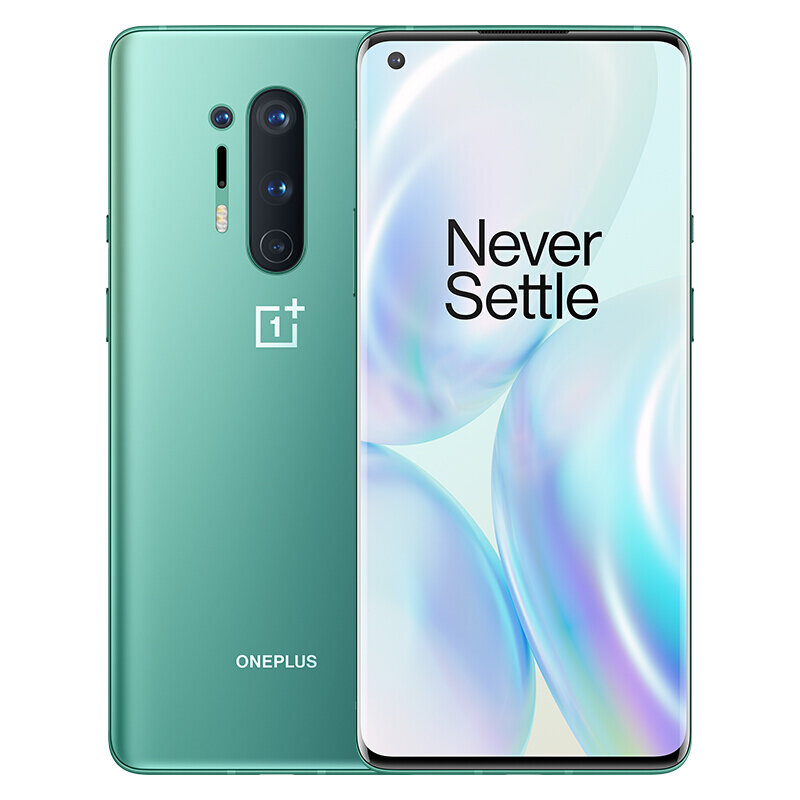OnePlus 8 Pro 5G 6.78 inch QHD+ 120Hz Refresh Rate IP68 NFC Android 10 4510mAh 48MP Quad Rear Camera 8GB 128GB Snapdragon 865 Smartphone - Glacial Green