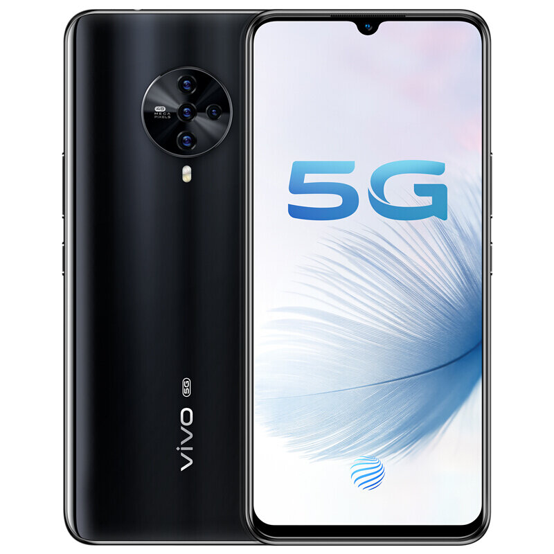 vivo S6 5G CN Version 6.44 inch FHD+ HDR10 Android 10.0 4500mAh 32MP Front Camera 8GB 256GB Exynos 980 Smartphone - Black