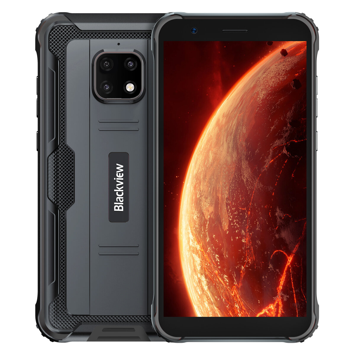 Blackview BV4900 IP68/IP69K 5.7 inch NFC Android 10 5580mAh 3GB 32GB Helio A22 Quad Core 4G Smartphone - Black