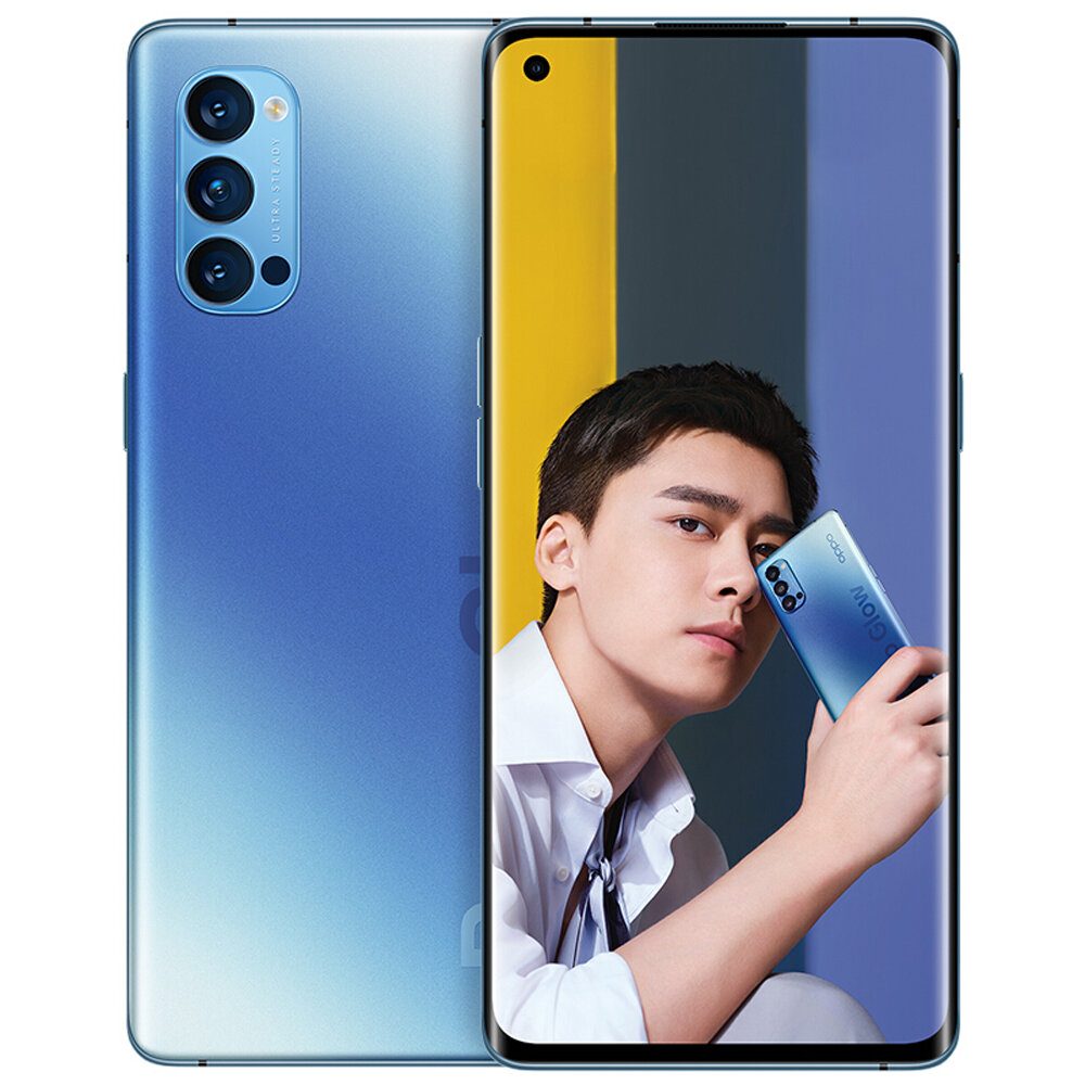 OPPO Reno4 Pro 5G CN Version 6.5 inch FHD+ 90Hz Refresh Rate NFC Android 10 SuperVOOC 2.0 12GB 128GB Snapdragon 720G Smartphone - Blue