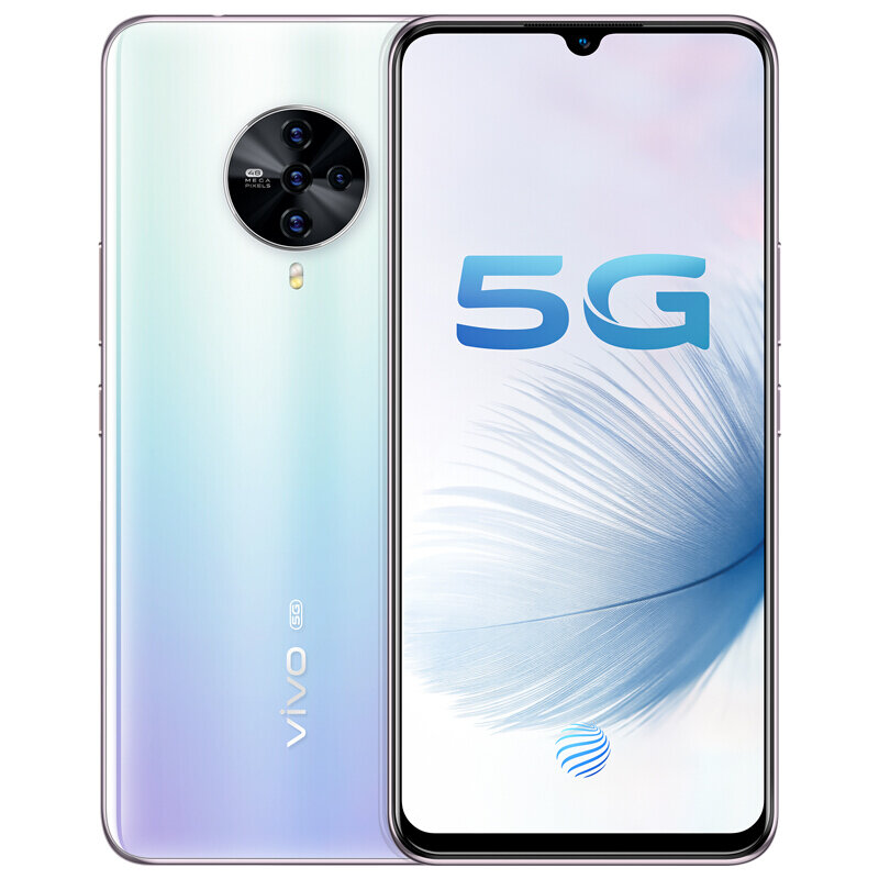 vivo S6 5G CN Version 6.44 inch FHD+ HDR10 Android 10.0 4500mAh 32MP Front Camera 8GB 256GB Exynos 980 Smartphone - Light Blue