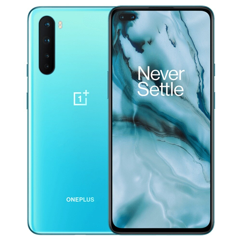 OnePlus Nord AC2003 5G 6.44 inch FHD+ 90Hz Refresh Rate HDR10+ NFC Android 10 4115mAh 32MP Dual Front Camera 8GB 128GB Snapdragon 765G Smartphone - Blue