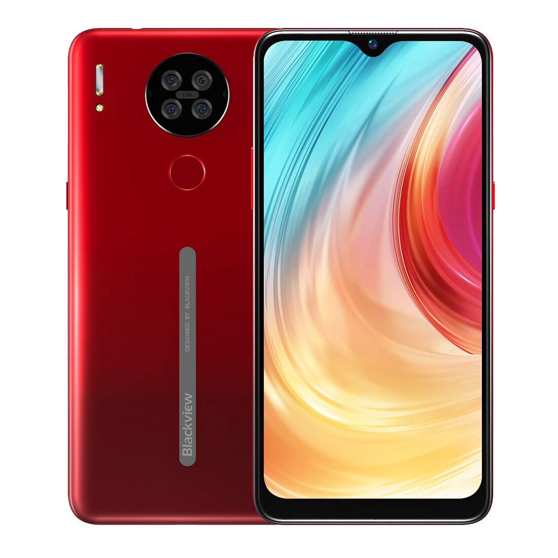 Blackview A80 6.217 inch HD+ Waterdrop Display 3800mAh Android 10 Go 13MP Quad Rear Camera 2GB 16GB MT6737V/W Quad Core 4G Smartphone - Red