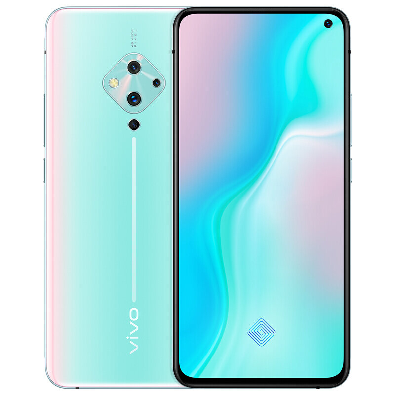 vivo S5 CN Version 6.44 inch FHD+ 4100mAh Android 9.0 32MP Front Camera 8GB 128GB Snapdragon 712 4G Smartphone - Blue
