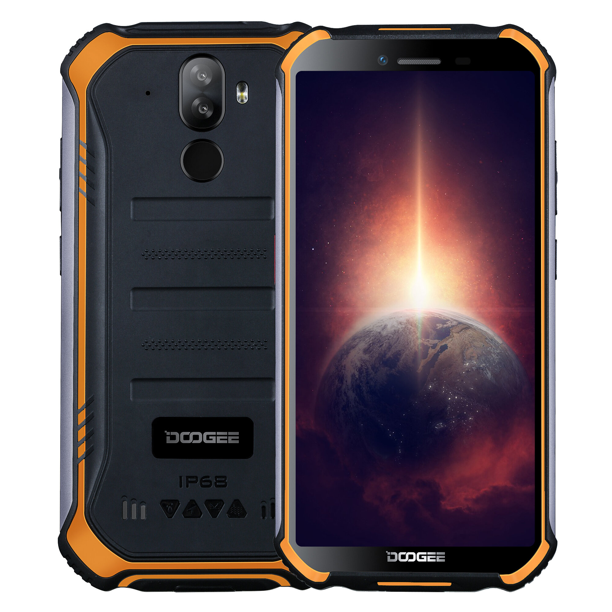DOOGEE S40 Pro 5.45 inch IP68/IP69K Waterproof NFC Android 10.0 4650mAh 13MP Dual Rear Camera 4GB 64GB Helio A25 4G Smartphone - Orange