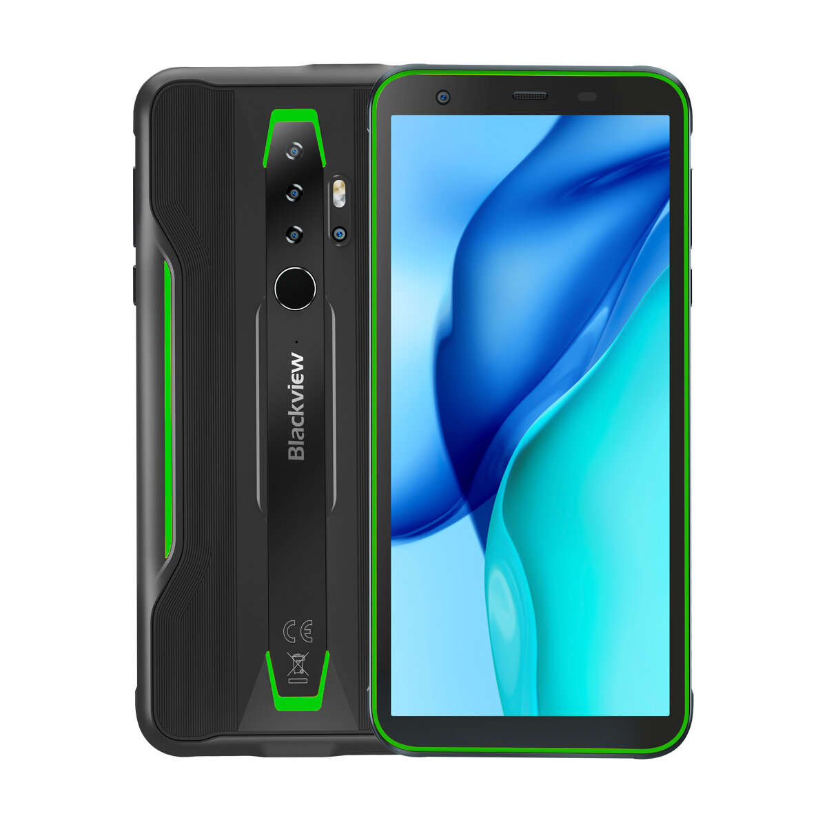 Blackview BV6300 Pro Global Bands IP68/IP69K Waterproof 5.7 inch NFC 4380mAh Android 10 16MP Quad Camera 6GB 128GB Helio P70 Octa Core 4G Smartphone - Green