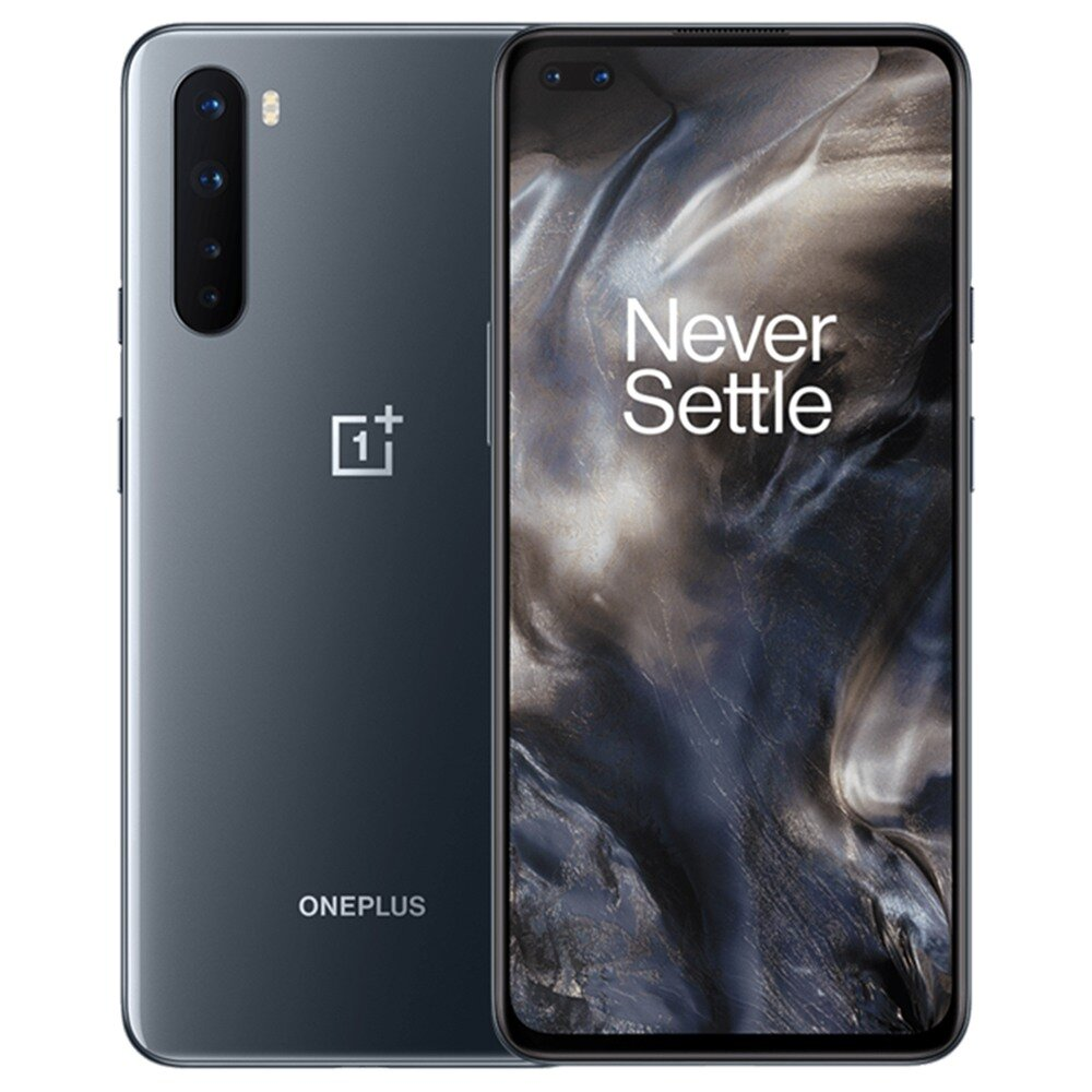 OnePlus Nord AC2003 5G 6.44 inch FHD+ 90Hz Refresh Rate HDR10+ NFC Android 10 4115mAh 32MP Dual Front Camera 8GB 128GB Snapdragon 765G Smartphone - Grey