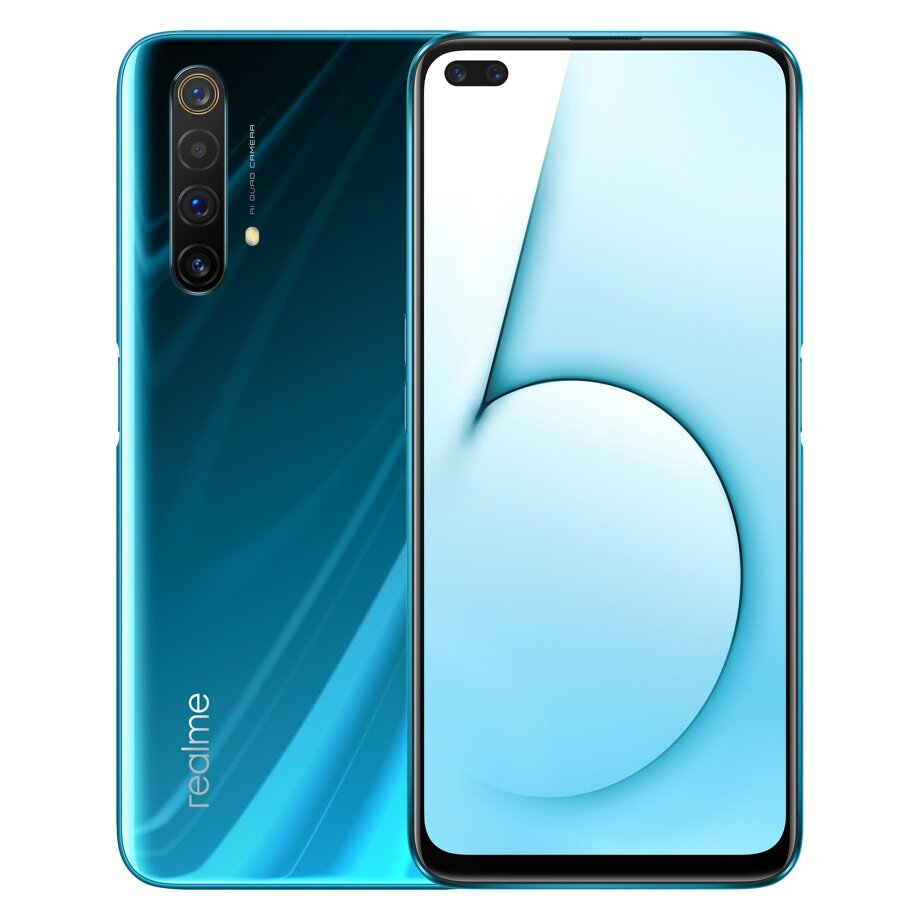 Realme X50 5G CN Version 6.57 inch FHD+ 120Hz Refresh Rate NFC Android 10.0 4200mAh 30W VOOC 4.0 64MP Quad Rear Cameras 12GB 256GB Snapdragon 765G Octa Core Smartphone - Green