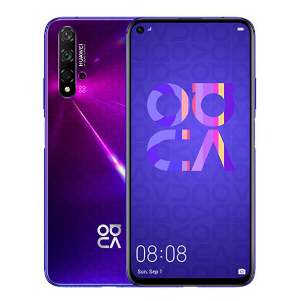 HUAWEI NOVA 5T 6.26 inch 48MP Quad Rear Camera NFC 8GB RAM 128GB ROM Kirin 980 Octa core 4G Smartphone - Purple