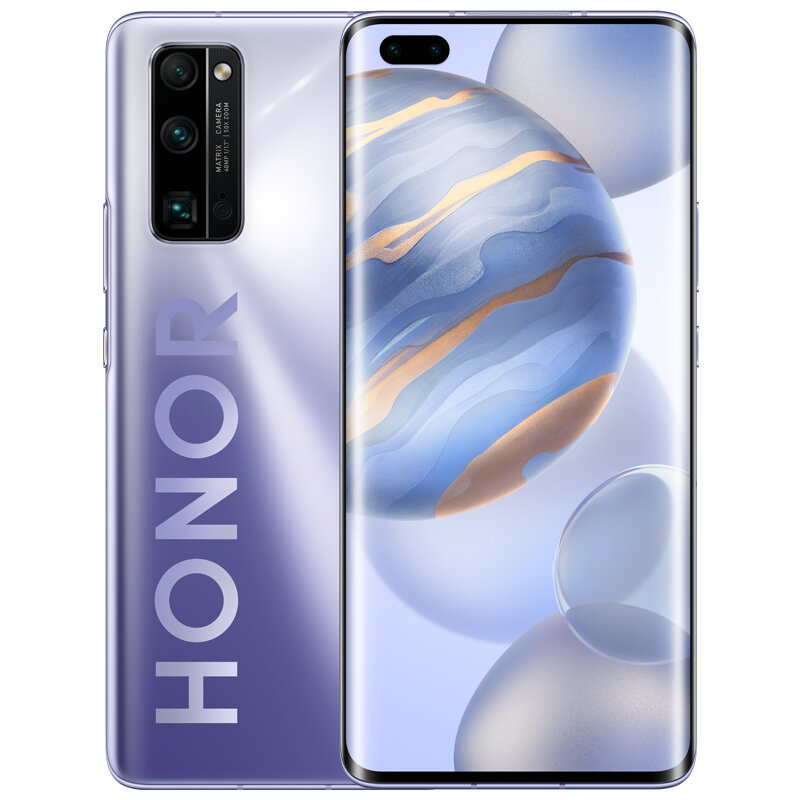 HUAWEI Honor 30 Pro CN Version 6.57 inch 50X Zoom 40MP Triple Camera 8GB 256GB Kirin 990 Octa Core 5G Smartphone - Silver