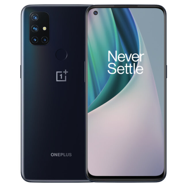 OnePlus Nord N10 5G UK Version 6.49 inch FHD+ 90Hz Refresh Rate NFC Android 10 6GB 128GB Snapdragon 690 64MP Quad Camera 4300mAh Warp Charge 30T Smartphone - Midnight Ice
