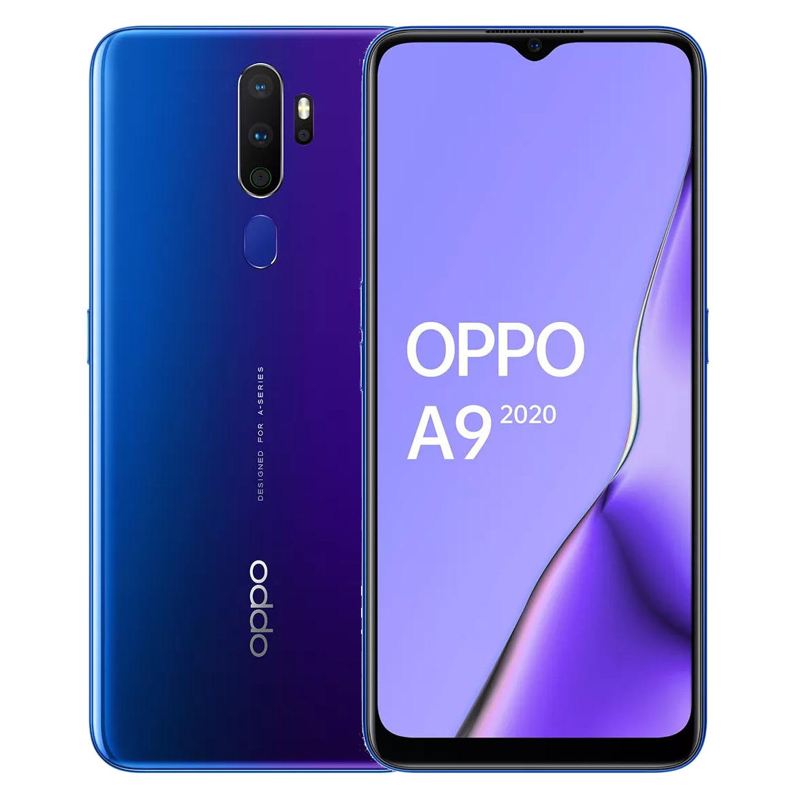 OPPO A9 2020 6.5 inch HD+ 5000mAh Android 9.0 48MP Quad Rear Cameras 8GB 128GB Snapdragon 665 Octa Core 4G Smartphone - Space Purple