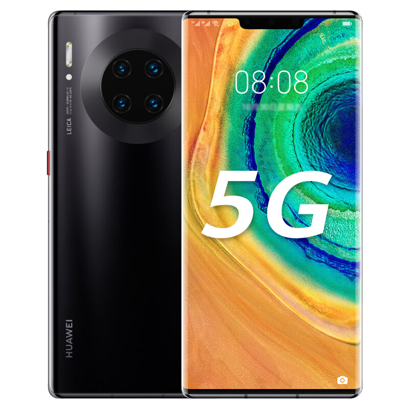 HUAWEI Mate 30E Pro 6.53 inch 40MP Quad Rear Camera 8GB 256GB NFC 4500mAh Wireless Charge Kirin 990E Octa Core 5G Smartphone - Black