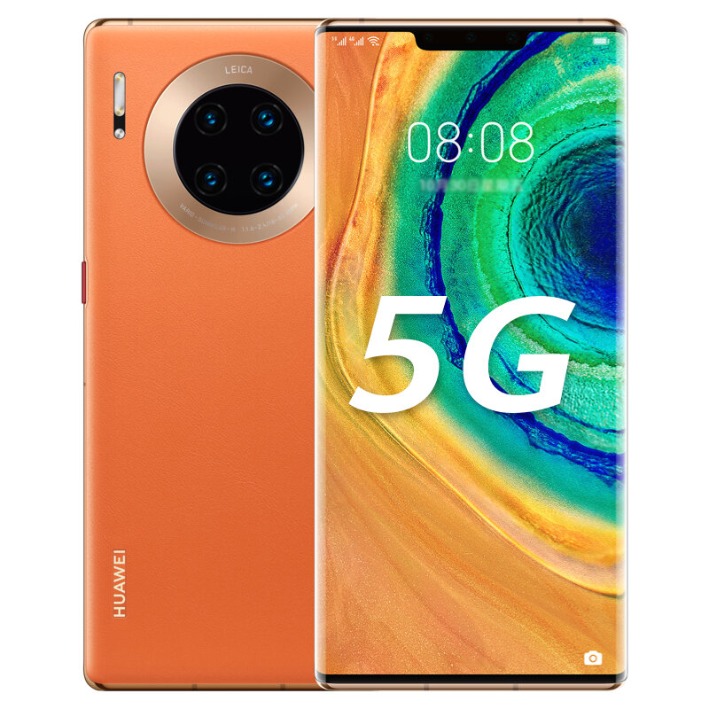 HUAWEI Mate 30E Pro 6.53 inch 40MP Quad Rear Camera 8GB 128GB NFC 4500mAh Wireless Charge Kirin 990E Octa Core 5G Smartphone - Orange
