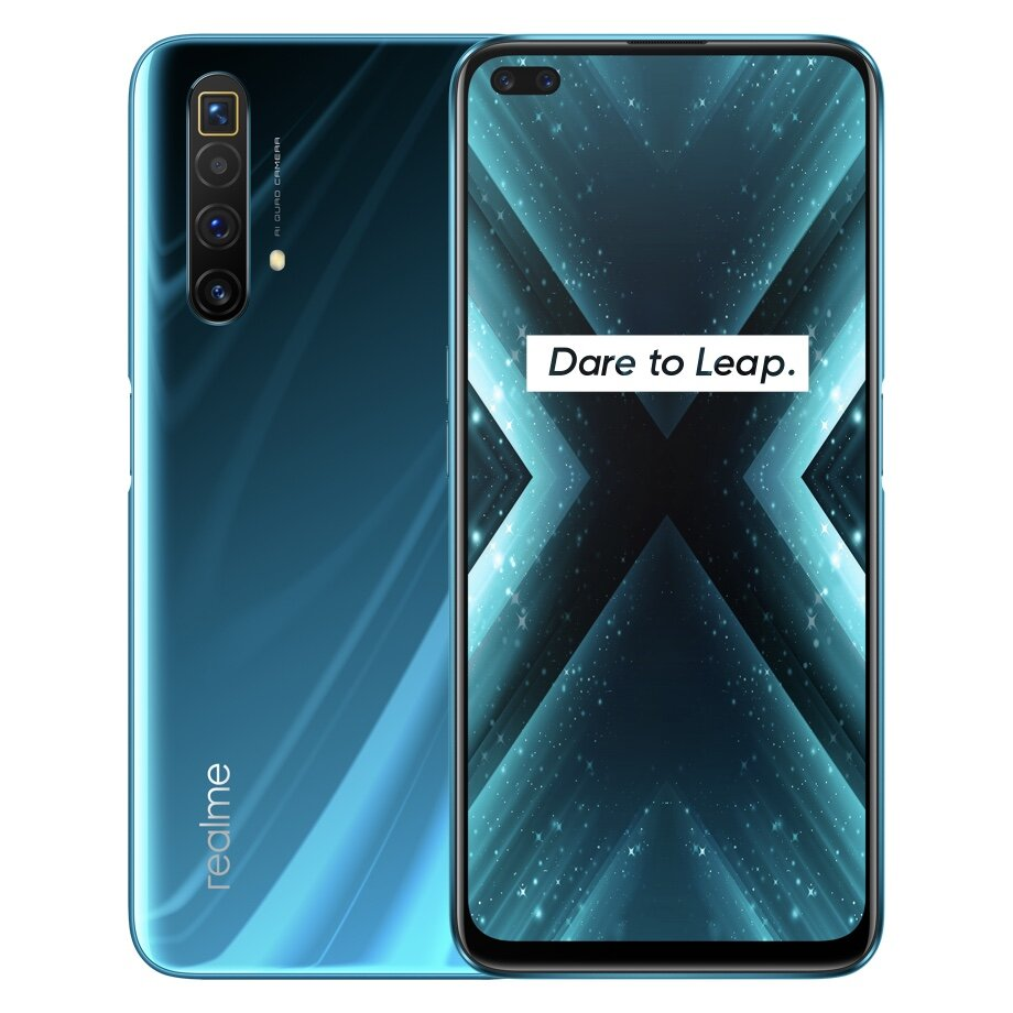 Realme X3 SuperZoom IN Version 6.6 inch FHD+ 120Hz Refresh Rate 64MP Quad Camera 32MP Dual In-display Selfie 12GB 256GB Snapdragon 855 Plus 4G Smartphone - Blue